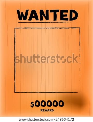Vintage wanted paper, vector and illustration - stock vector