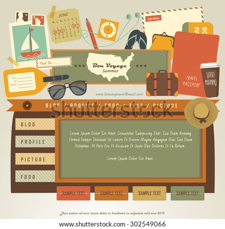 Vintage Web design elements (5) - stock vector