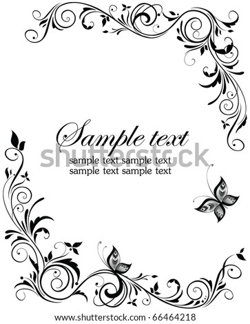 Vintage wedding design - stock vector