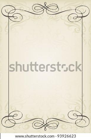 Vintage wedding frame vector background card - stock vector