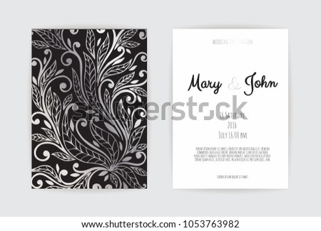Vintage Wedding Invitation Templates Cover Design Stock Vector (2018 ...