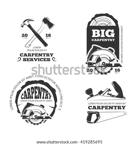 Vintage Woodwork Sawmill Vector Labels Logos Stock Vector. Switch Off Logo. Triangle Signs Of Stroke. Sikh Logo. Snake Banners. Hotel Wall Murals. Duck Boat Decals. Workplace Safety Signs Of Stroke. Building Material Logo