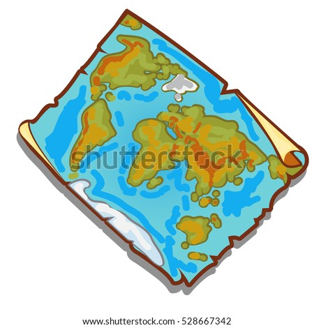 Vintage world map on piece faded stock vector 528667342 shutterstock vintage world map on the piece of faded old paper with torn edges vector illustration gumiabroncs Image collections