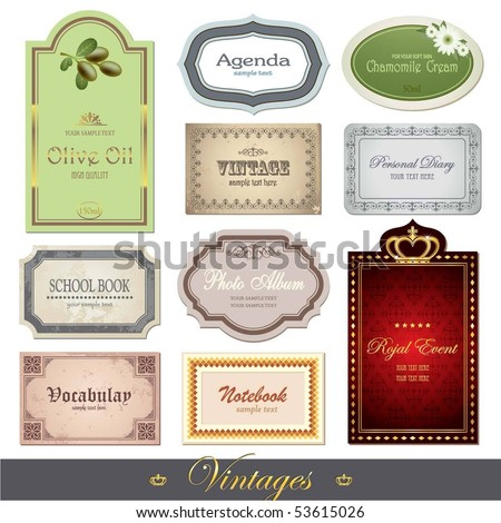 Vintages - stock vector