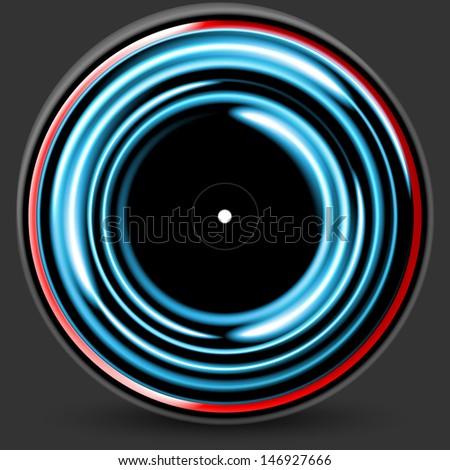 vinyl, cd - stock vector