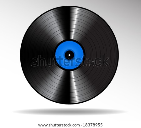 Vinyl disc vector icon - stock vector