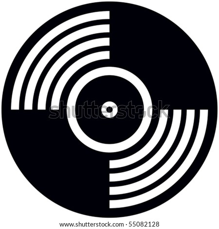Vinyl disc - Vector illustration - stock vector
