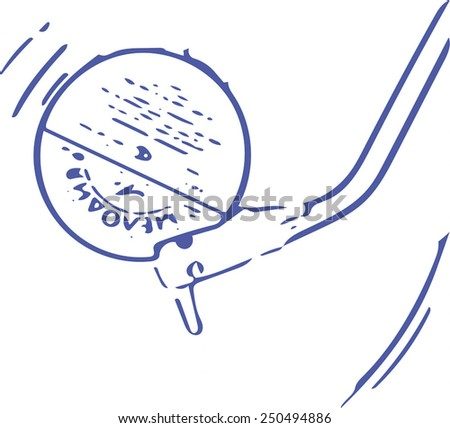 Vinyl music draw painting in vector format - stock vector