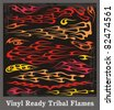 Vinyl ready tribal flames. Vector graphics, great for car, motorbike and t-shirt decals and stickers. - stock vector