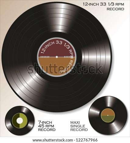 Vinyl record - stock vector