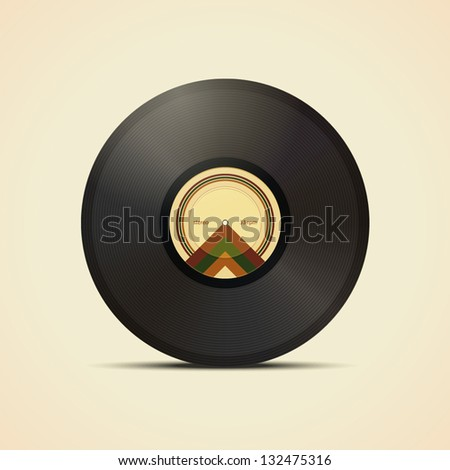 vinyl record - stock vector
