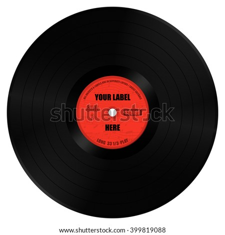 Vinyl Record Long Play Label All Stock Vector 399819088