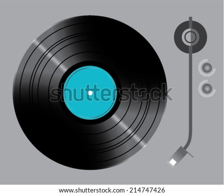 Vinyl turntable with switches