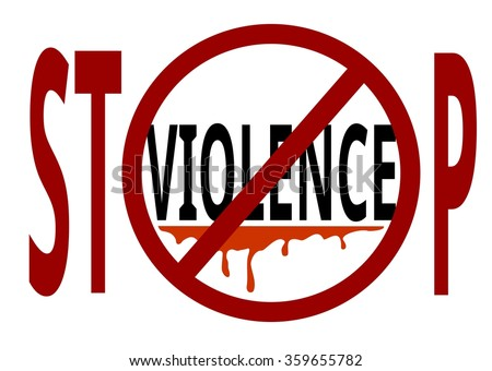 Violence Stop Sign Symbol Appeal Logo Stock Vector Hd Royalty Free