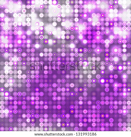 Violet abstract sparkling disco background with circles - stock vector