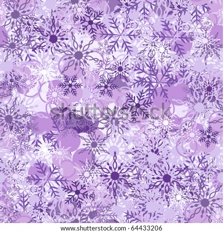 violet background with snowflake, vector illustration - stock vector