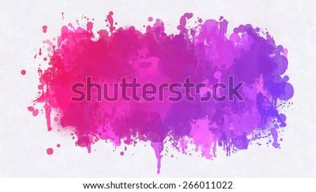 Violet blobs brush strokes background. Vector version - stock vector