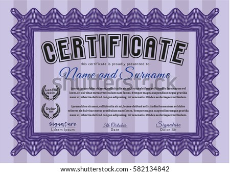 Green Certificate Or Diploma Template Mother Isolated Design