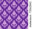 violet flowers on violet background seamless - stock vector