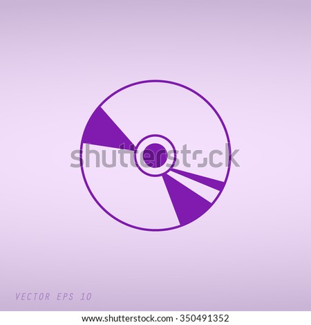 Violet Gold CD or DVD icons  - stock vector