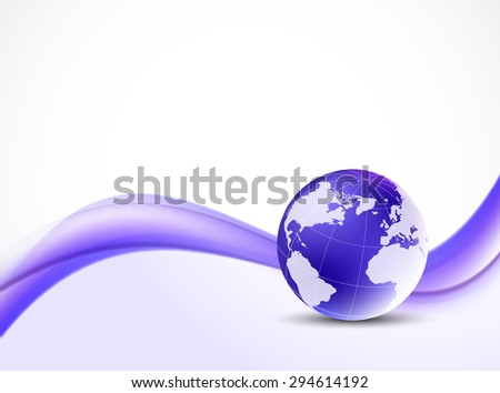 Violet purple background comunication globalization abstract design - stock vector