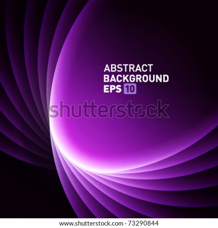 Violet smooth light lines vector background - stock vector