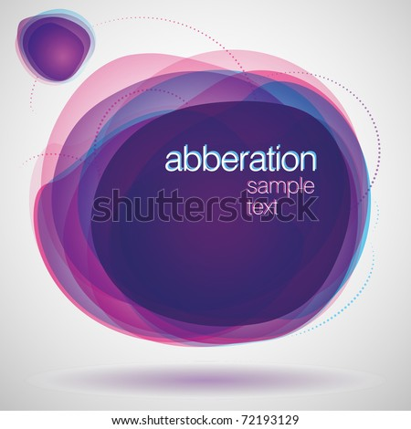 Violet stain abstract vector background - stock vector