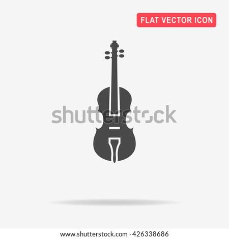 Violin icon. Vector concept illustration for design. - stock vector
