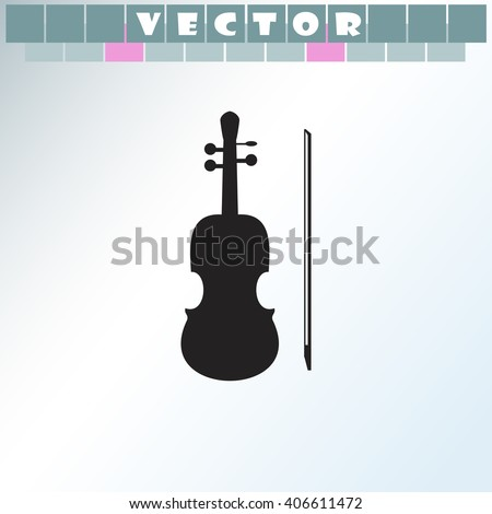 Violin icon. Violin vector. Simple icon isolated on light background. - stock vector