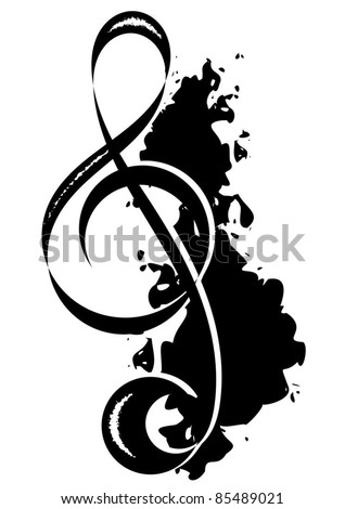 violin key - stock vector