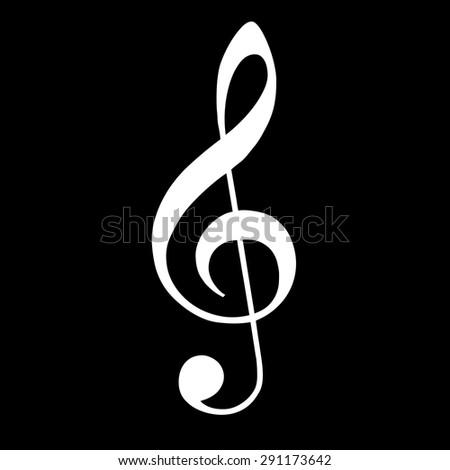 Violin key icon. Music. - stock vector