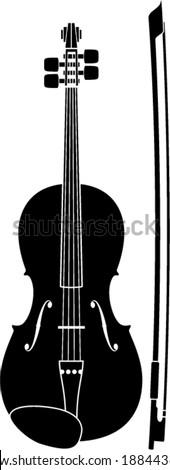 violin symbol - stock vector