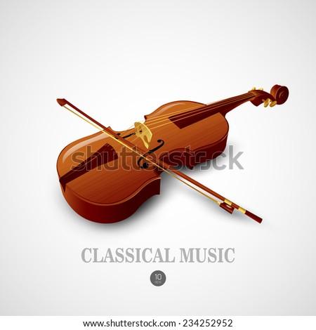 Violin. Vector illustration - stock vector