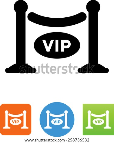 VIP barricade symbol for download. Vector icons for video, mobile apps, Web sites and print projects.  - stock vector