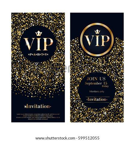 vip club party premium invitation card stock vector 599512055