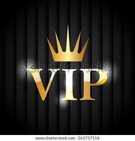 VIP design over black background, vector illustration. - stock vector