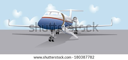 VIP first class transportation, jet private,  - stock vector