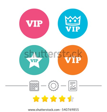 Vip Icons Very Important Person Symbols Stock Vector 540769855