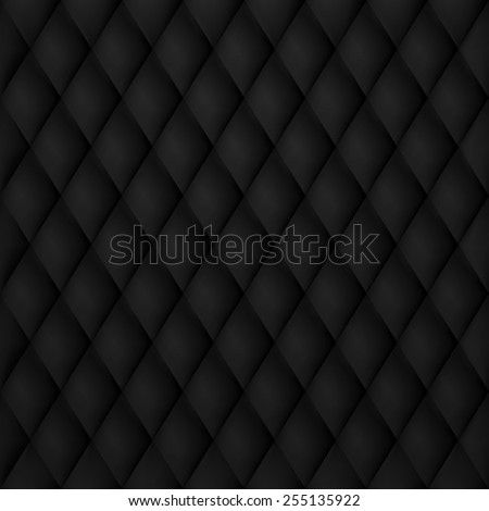 Vip Luxury Black Leather Background. EPS 10 - stock vector