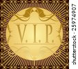 VIP - very important person. Vector cover background - stock photo