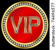Vip with diamonds,vector - stock vector