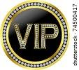 Vip with diamonds, vector - stock vector