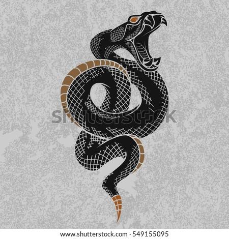 Viper Snake Hand Drawn...