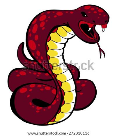 Viper Snake Illustration - stock vector