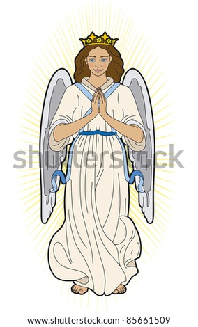 Virgin Mary - stock vector