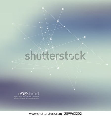 Virtual abstract background with particle, molecule structure. genetic and chemical compounds. creative vector. Space and constellations. Science and connection concept. Social network. - stock vector