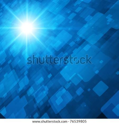 Virtual technology space vector background. Eps 10. - stock vector