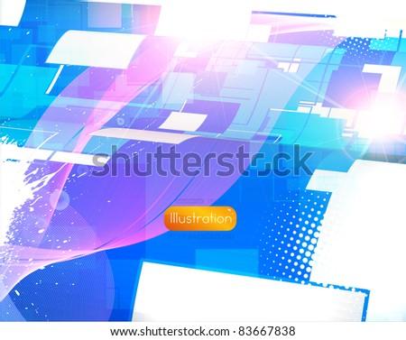 Virtual tecnology vector background. Eps 10. - stock vector