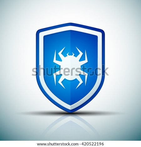 Virus Protection shield sign - stock vector