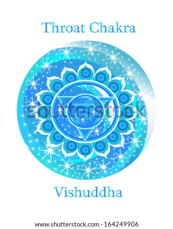Vishuddha chakra vector illustration - stock vector